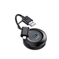 Адаптер USAMS US-SJ416 4 USB HUB Smart Adapter USB3.0+Type-C3.0
