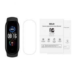 Защитная гидрогелевая пленка SKLO (экран) 60шт. (тех.пак) для Xiaomi Mi Band 5