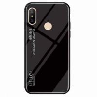 TPU+Glass чехол Gradient HELLO для Xiaomi Redmi Note 6 Pro