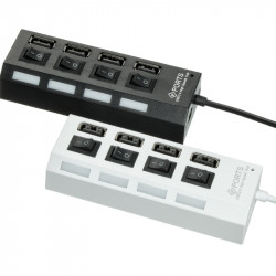 USB HUB Adapter (4USB 2.0 ) (20см)