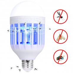 Антимоскитная светодиодная лампочка E27 / B22 - 2 в 1 против комаров, москитов, мошек фумигатор