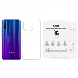 Защитная гидрогелевая пленка SKLO (тыл) (тех.пак) для Huawei Y9 Prime (2019)