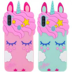 Силиконовая накладка 3D Little Unicorn для Samsung Galaxy A11