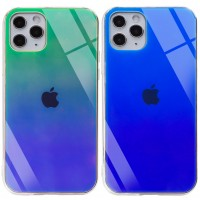 "TPU+Glass чехол Gradient Rainbow с лого для Apple iPhone 11 Pro Max (6.5"")"
