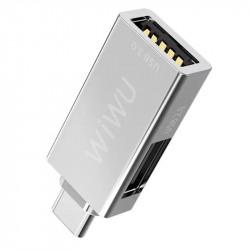 Переходник HUB WIWU T02 USB Type-C