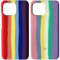 Чехол Silicone Cover Full Rainbow для Xiaomi Mi 11 Lite