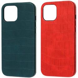"Кожаный чехол Croco Leather для Apple iPhone 12 mini (5.4"")"