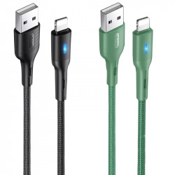 Дата кабель USAMS US-SJ425 U-Bob Series USB to Lightning Smart Power-off Cable (1.2m)