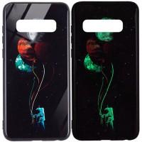 TPU+Glass чехол светящийся в темноте для Samsung Galaxy S10+