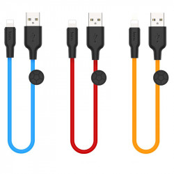 Дата кабель Hoco X21 Plus Silicone Lightning Cable (0.25m)