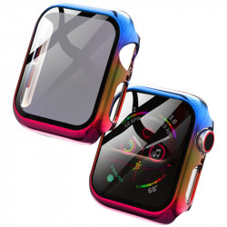 PC+Glass чехол Rainbow для Apple Watch 44mm