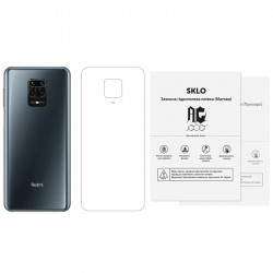 Защитная гидрогелевая пленка SKLO (тыл) (тех.пак) для Xiaomi Redmi Note 8 Pro