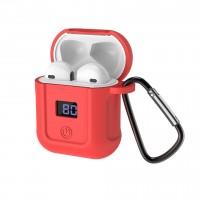 Bluetooth наушники HOCO S11 + красный силиконовый футляр