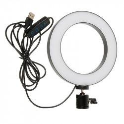 Кольцевая лампа LiveStream 16см без держателя, на треноге