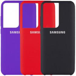 Чехол Silicone Cover (AAA) для Samsung Galaxy S21 Ultra