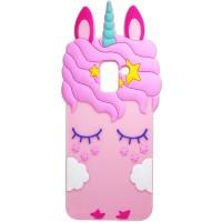 Силиконовая накладка 3D Little Unicorn для Samsung A730 Galaxy A8+ (2018)