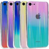 "TPU+Glass чехол Gradient Aurora с лого для Apple iPhone 7 / 8 (4.7"")"