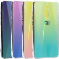 TPU+Glass чехол Gradient Aurora с лого для Xiaomi Redmi K20 / K20 Pro / Mi9T / Mi9T Pro