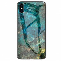 "TPU+Glass чехол Luxury Marble для Apple iPhone X / XS  (5.8"")"