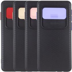 Чехол Camshield Black TPU со шторкой защищающей камеру для Samsung Galaxy S10