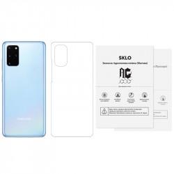 Защитная гидрогелевая пленка SKLO (тыл) (тех.пак) для Samsung G615 Galaxy J7 Max