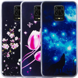 TPU+Glass чехол Fantasy с глянцевыми торцами для Xiaomi Redmi Note 9s / Note 9 Pro / Note 9 Pro Max