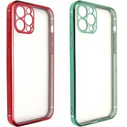 """Прозрачный силиконовый чехол глянцевая окантовка Full Camera для Apple iPhone 12 Pro Max (6.7"""")"""
