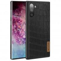 Кожаная накладка G-Case Crocodile Dark series для Samsung Galaxy Note 10