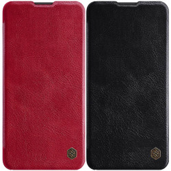Кожаный чехол (книжка) Nillkin Qin Series для Huawei P40