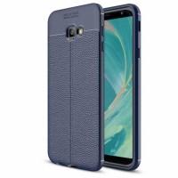 TPU чехол фактурный (с имитацией кожи) для Samsung Galaxy J4+ (2018)