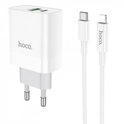 СЗУ HOCO C80A PD+QC3.0 (1USB/3.1A) Type-C to lightning