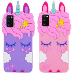 Силиконовая накладка 3D Little Unicorn для Samsung Galaxy A41