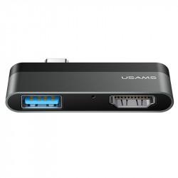 Уценка Переходник HUB Usams US-SJ462 Type-C Mini Hub (USB + HDMI)