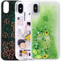 "TPU+PC чехол Liquid (glitter) для Apple iPhone XS Max (6.5"")"