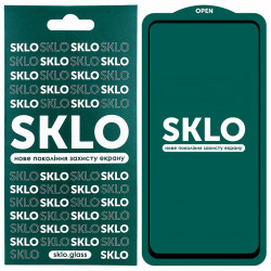 Защитное стекло SKLO 5D (full glue) для Samsung Galaxy A21 /A21s