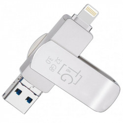 Флеш-драйв T&G 007 Metal series USB 3.0 - Lightning - MicroUSB 32GB