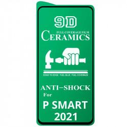 Защитная пленка Ceramics 9D (без упак.) для Huawei P Smart (2021)