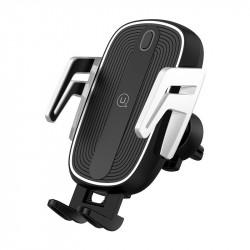 Уценка Автодержатель с БЗУ USAMS US-CD100 Automatic Touch Induction Wireless Charging (Air Vent)