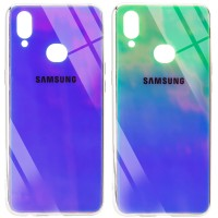 TPU+Glass чехол Gradient Rainbow с лого для Samsung Galaxy A10s