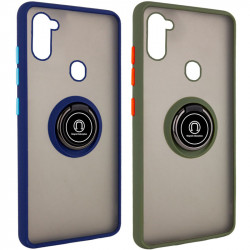 TPU+PC чехол Deen ColorEdgingRing for Magnet для Samsung Galaxy A11