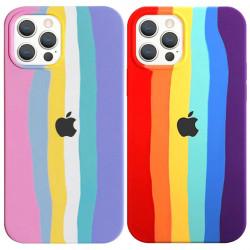 "Чехол Silicone case Full Rainbow для Apple iPhone 13 Pro Max (6.7"")"