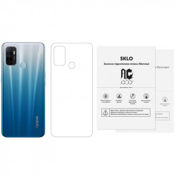 Защитная гидрогелевая пленка SKLO (тыл) (тех.пак) для Oppo Reno 5 5G