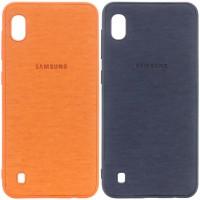 TPU чехол Textile Logo для Samsung Galaxy A10 (A105F)