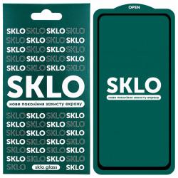 Защитное стекло SKLO 5D (full glue) для Samsung Galaxy A11