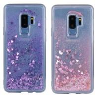 TPU чехол Liquid hearts для Samsung Galaxy S9+