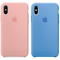 "Чехол Silicone case (AAA) для Apple iPhone X (5.8"") / XS (5.8"")"