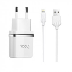 СЗУ Hoco C11 Charger + Cable (Lightning) 1.0A 1USB