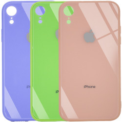 "TPU+Glass чехол GLOSSY Logo Full camera (opp) для Apple iPhone XR (6.1"")"
