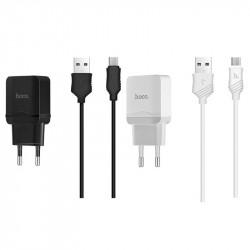 СЗУ Hoco C22A USB Charger 2.4A (+ кабель Lightning)